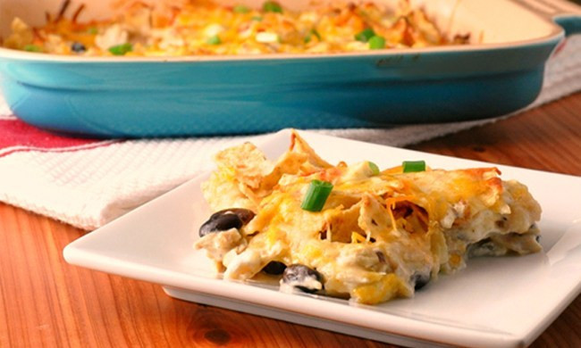 Mexican Casserole With Tortilla Chips  mexican casserole with tortilla chips