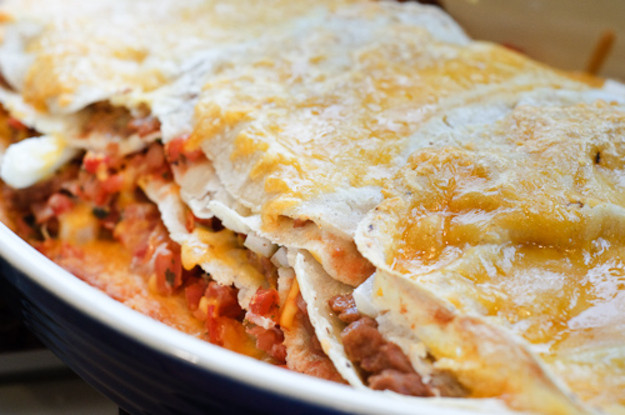 Mexican Casserole With Tortillas  Seriously Meatless Tortilla Casserole Recipe