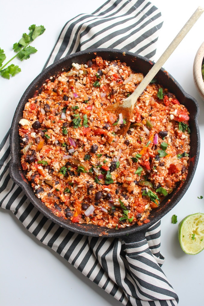 Mexican Cauliflower Rice  Mexican Style Cauliflower Rice with Guacamole A Saucy