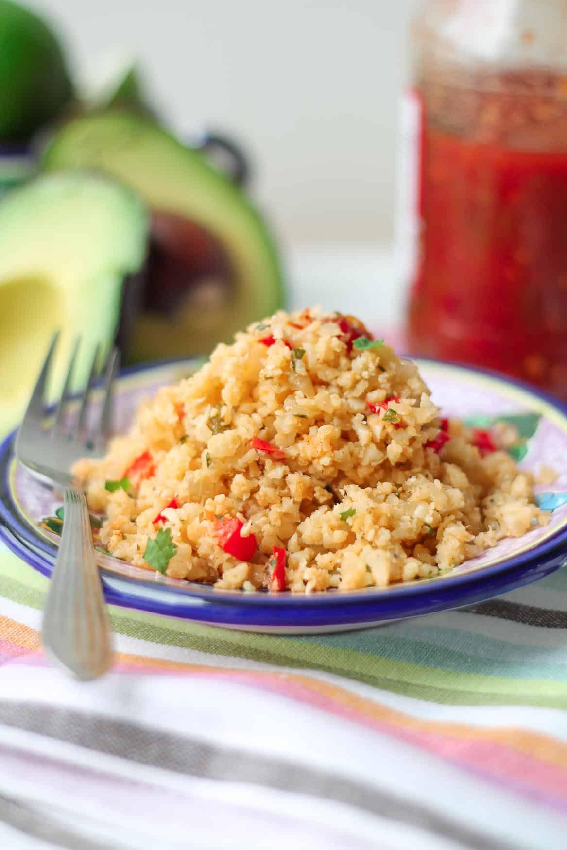 "Mexican Cauliflower Rice  Mexican Cauliflower ""Rice"" Vegan Gluten Free Paleo"