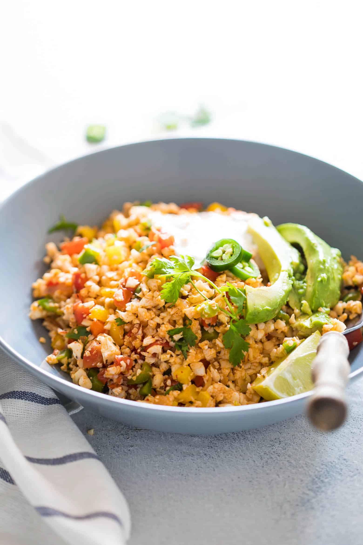 Mexican Cauliflower Rice  Low Carb Mexican Cauliflower Rice Paleo Vegan Keto