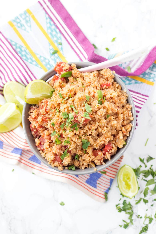 Mexican Cauliflower Rice  Mexican Cauliflower Rice Wicked Spatula