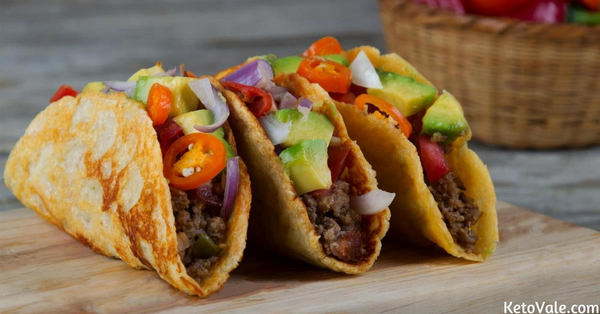 Mexican Cheese For Tacos  Keto Cheese Shell Tacos with Ground Beef Low Carb Recipe