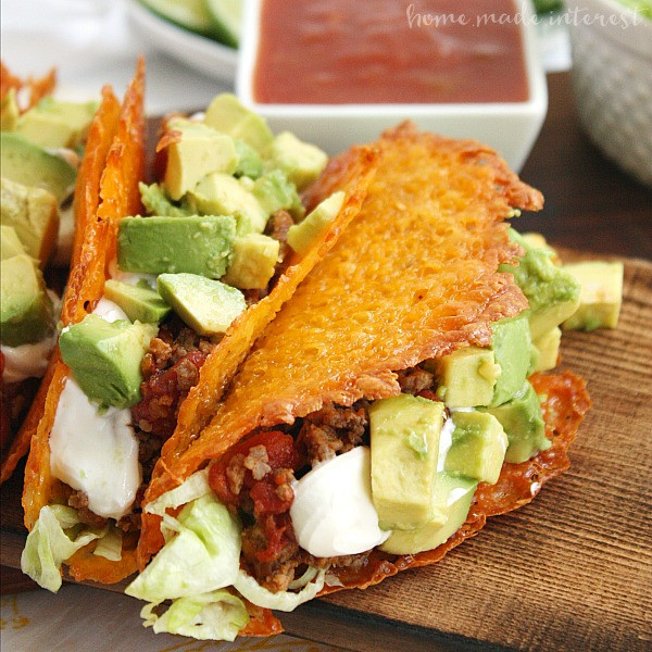 Mexican Cheese For Tacos  Cheese Taco Shells for a Low Carb Taco Night Home Made