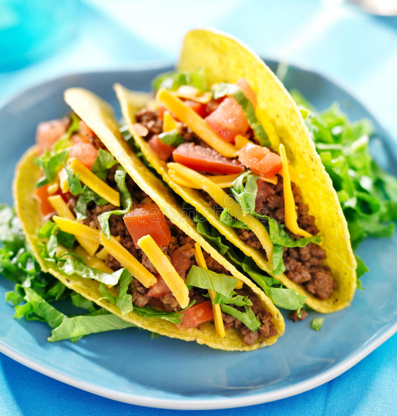 Mexican Cheese For Tacos  Mexican food beef tacos stock photo Image of up