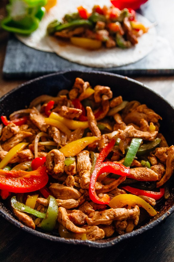 Mexican Chicken Fajita Recipes  Spicy Chicken Fajitas Dad With A Pan