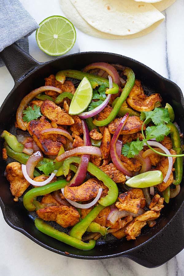 Mexican Chicken Fajita Recipes  Sizzling Chicken Fajita