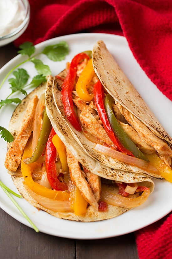 Mexican Chicken Fajita Recipes  Slow Cooker Chicken Fajitas Cooking Classy