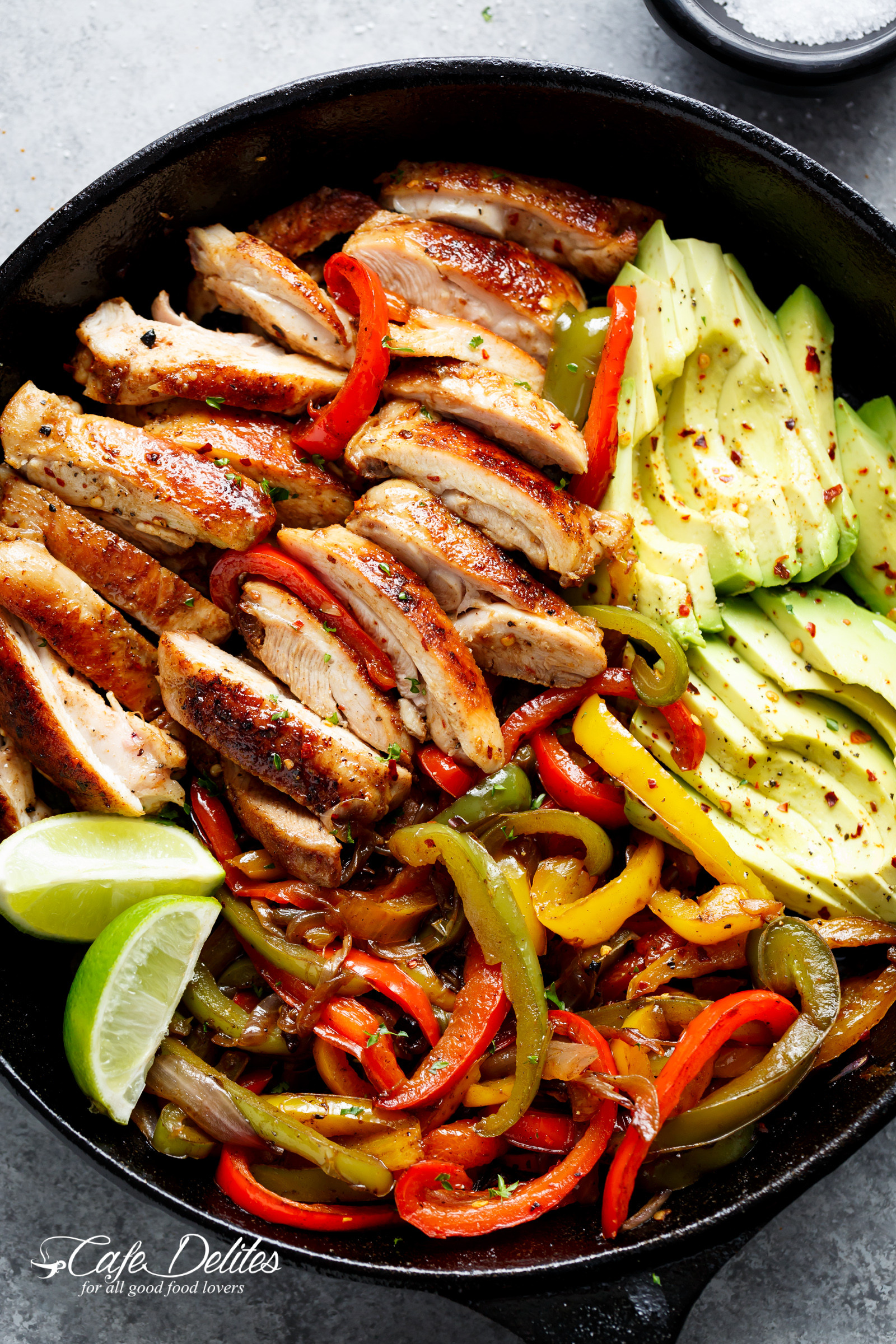 Mexican Chicken Fajita Recipes  Best Chicken Fajitas Cafe Delites TheDirtyGyro