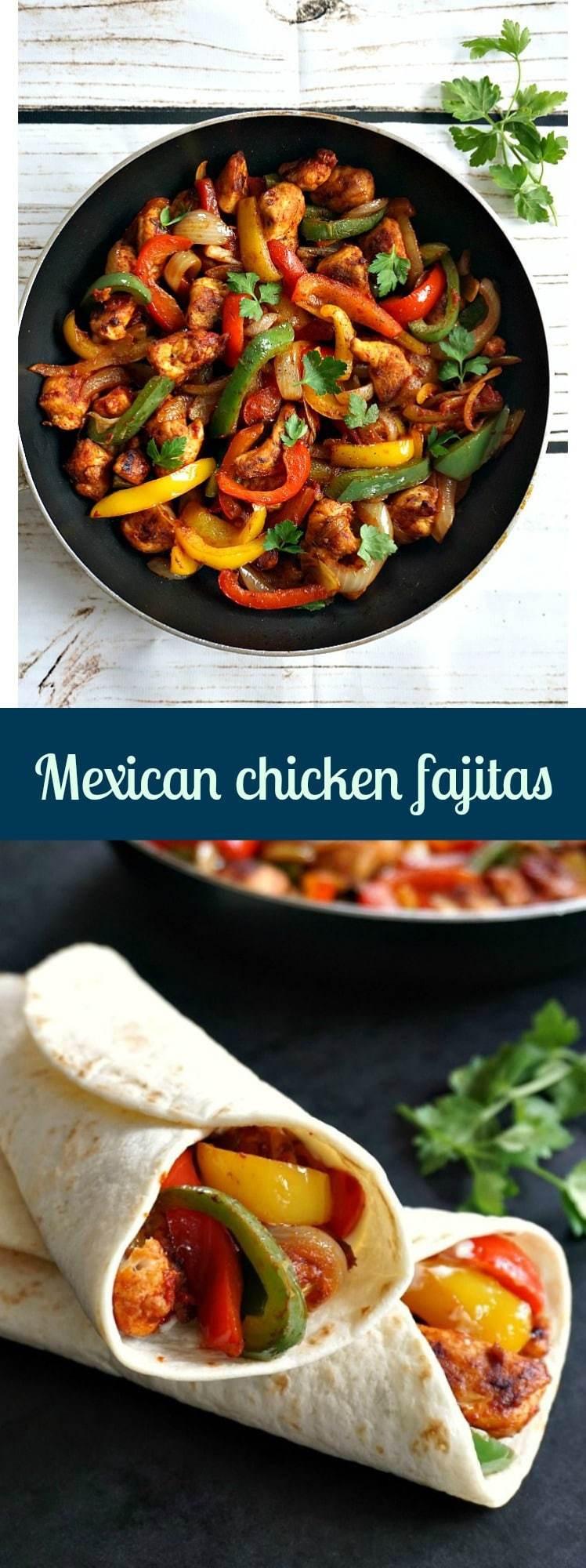 Mexican Chicken Fajita Recipes  Mexican chicken fajitas