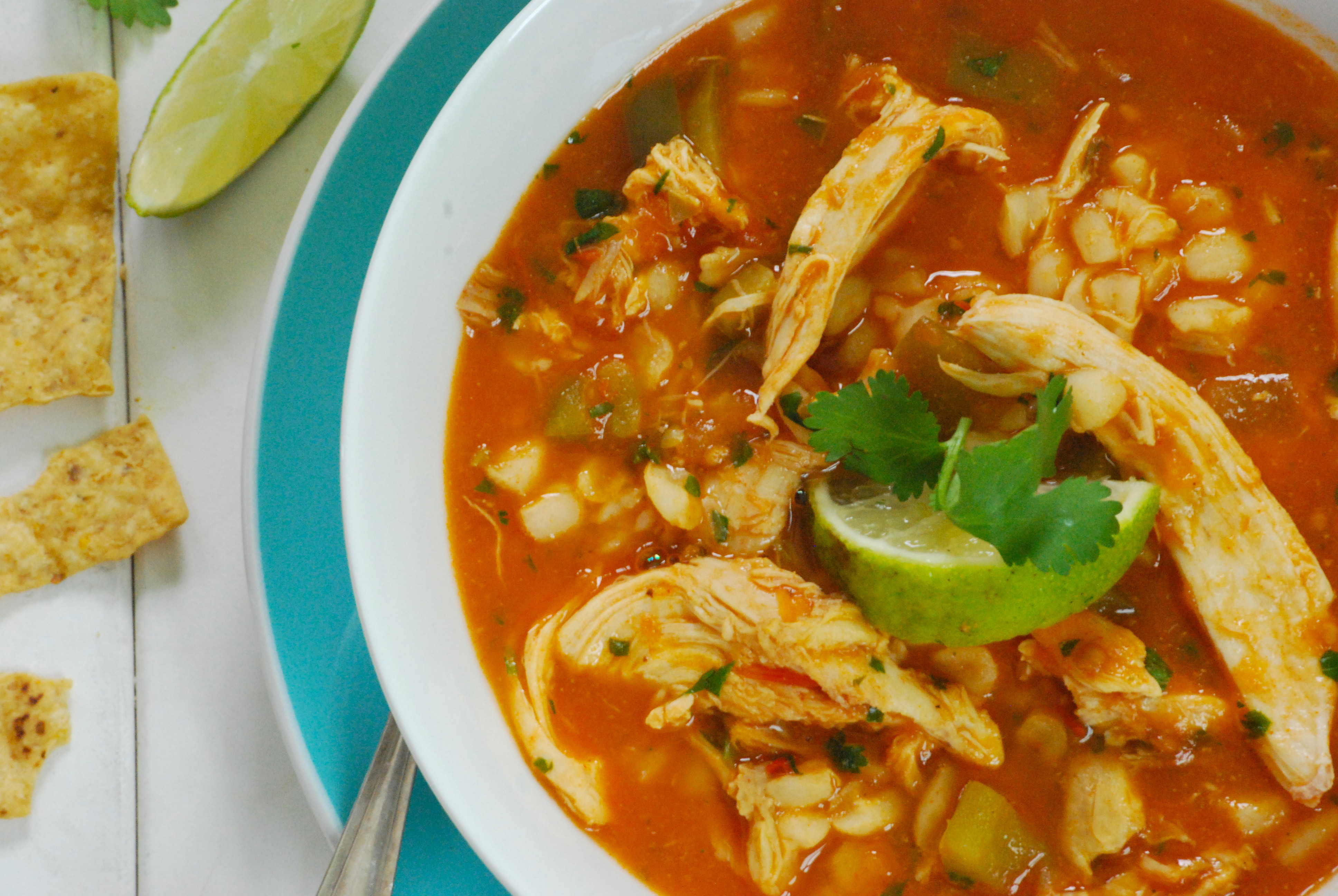Mexican Chicken Soup  Mexican Chicken and Hominy Soup