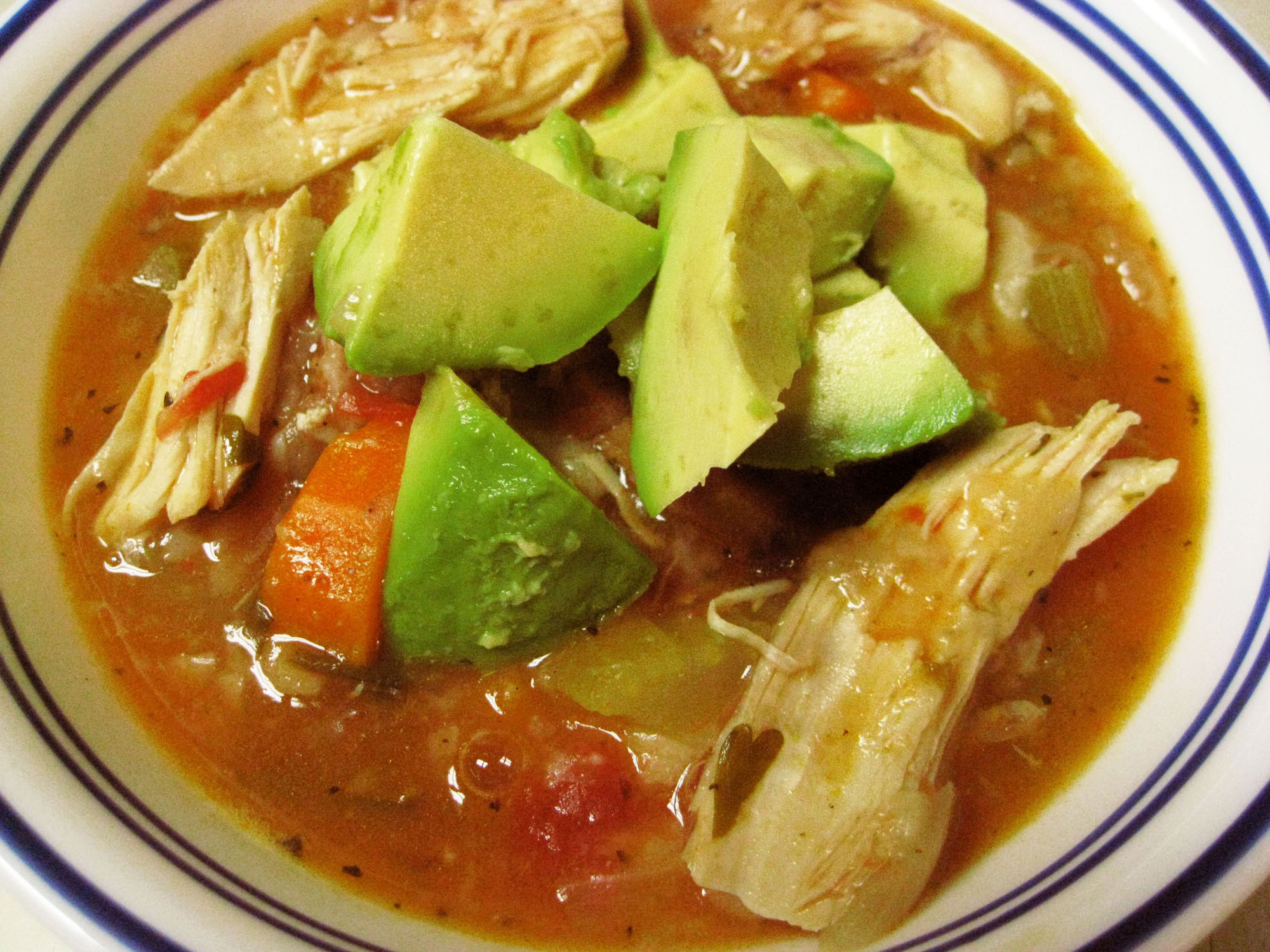 Mexican Chicken Soup  Spicy Mexican Chicken Soup