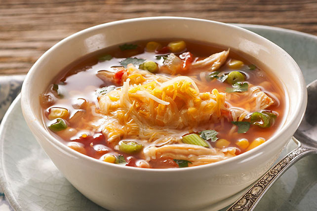 Mexican Chicken Soup  Hearty Mexican Chicken Soup Kraft Recipes