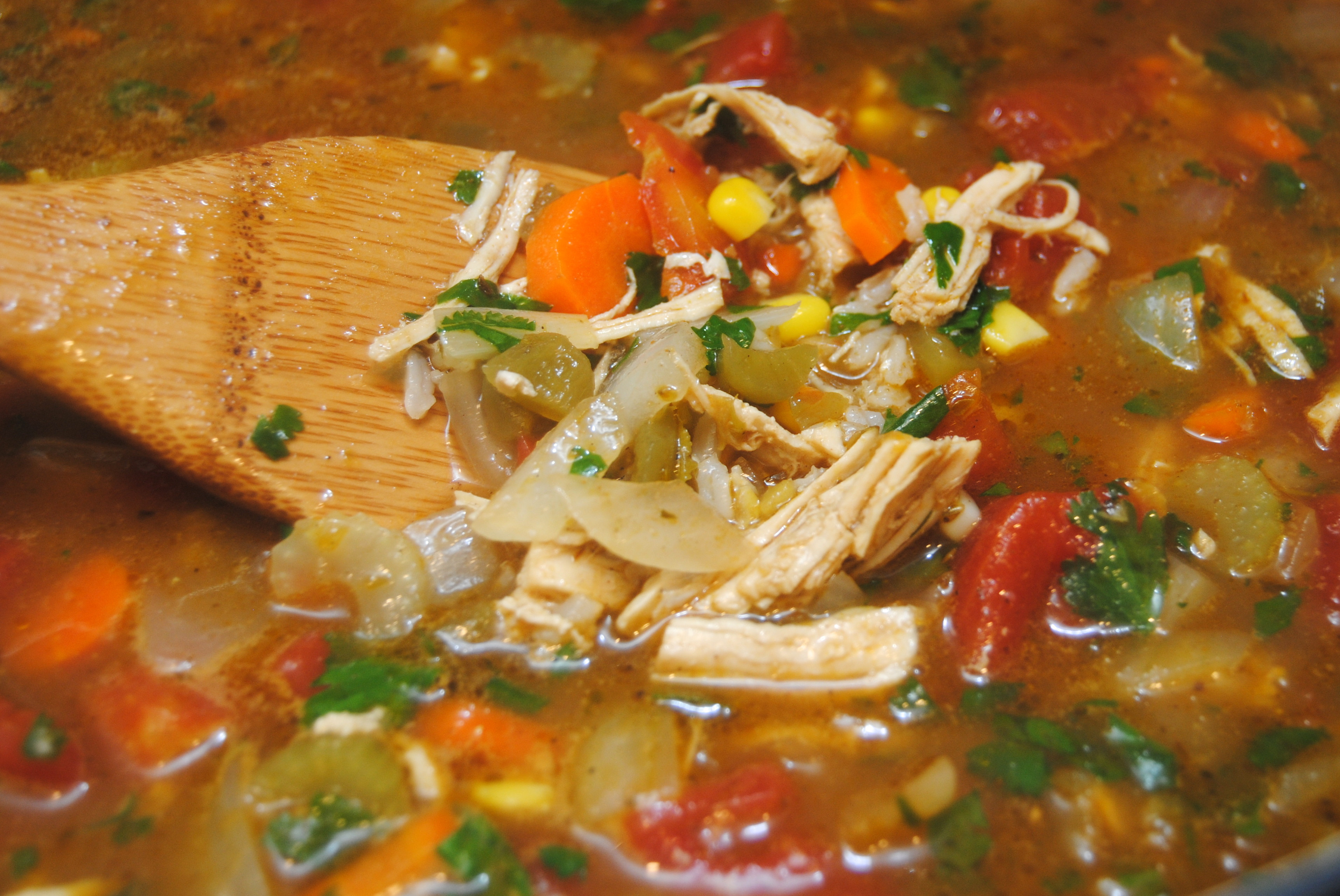 Mexican Chicken Soup  Mexican chicken and rice soup
