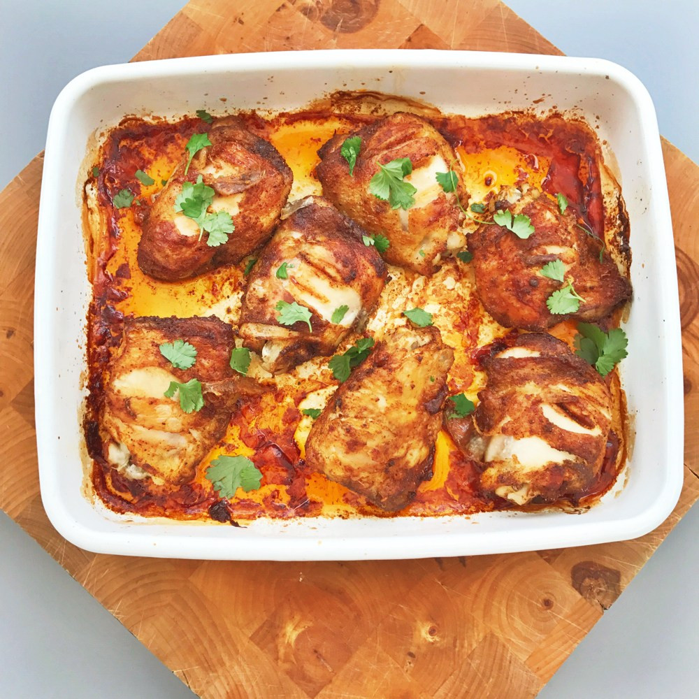 Mexican Chicken Thighs  Family meal plan 15th May 2017