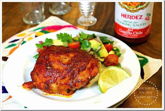 Mexican Chicken Thighs  Roasted Chicken Thighs Adobadas