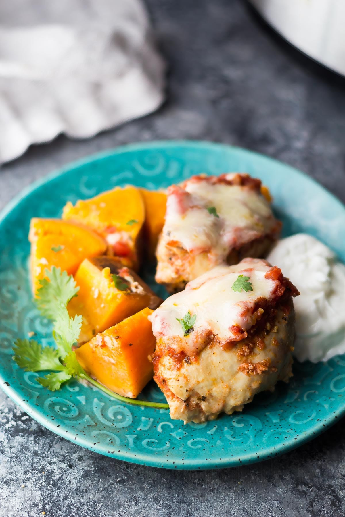 Mexican Chicken Thighs  Southwestern Crockpot Chicken Thighs with Sweet Potatoes