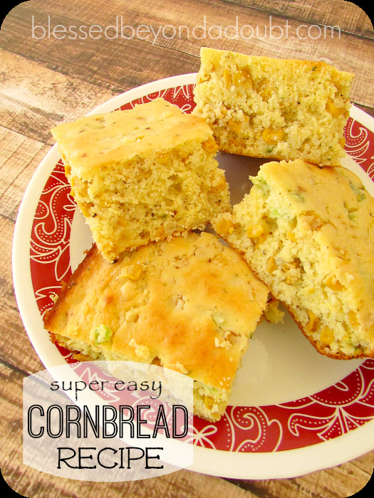 Mexican Corn Bread  Super EASY Mexican Cornbread Recipe