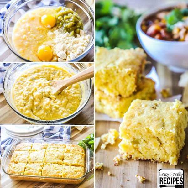 Mexican Corn Bread  Easy Mexican Cornbread · Easy Family Recipes