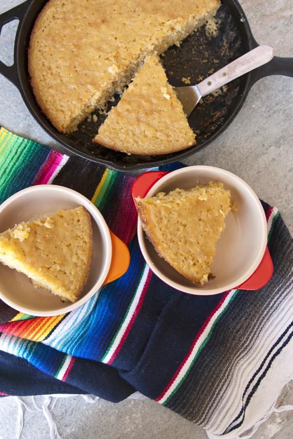 Mexican Corn Cake  Mexican Skillet Corn Cake Muy Bueno Cookbook