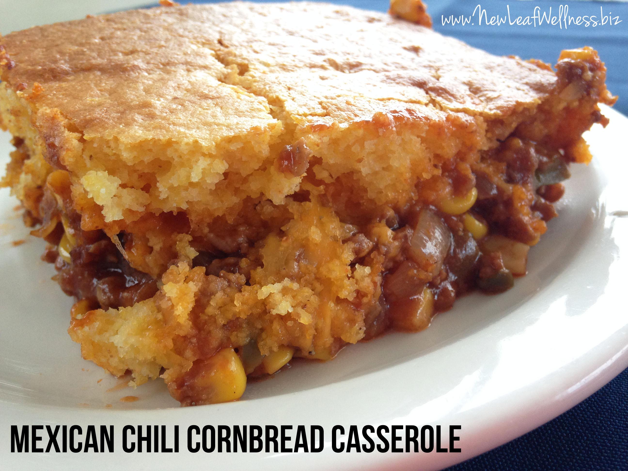 Mexican Cornbread Recipe  Mexican chili cornbread casserole recipe – New Leaf Wellness