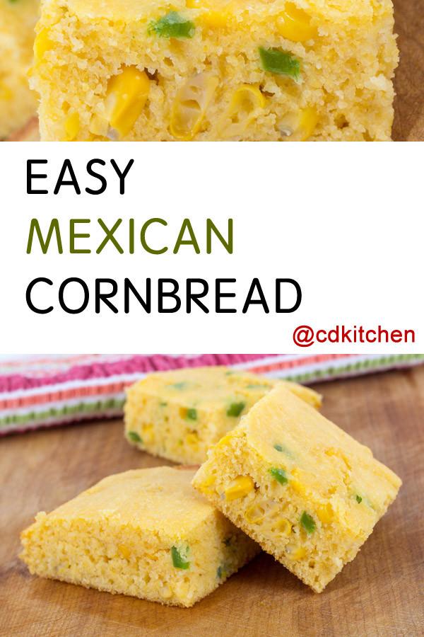 Mexican Cornbread Recipe  mexican cornbread with creamed corn
