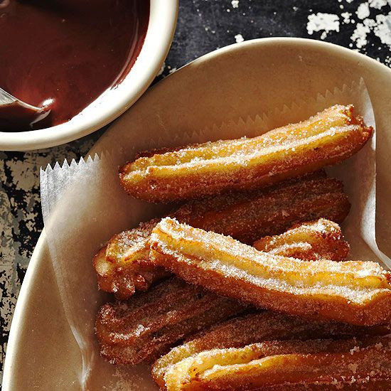 Mexican Desserts Churros  Anise Churros with Chocolate Sauce Recipe