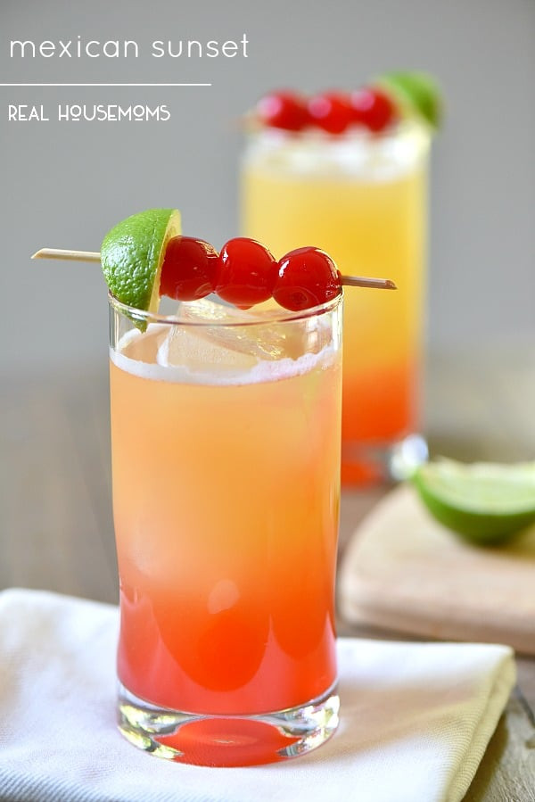 Mexican Drinks Non Alcoholic  Mexican Sunset ⋆ Real Housemoms