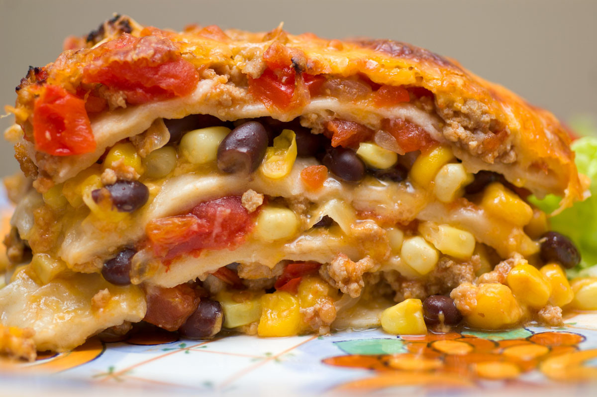 Mexican Lasagna With Tortillas  Sugar & Spice by Celeste Mexican Lasagne