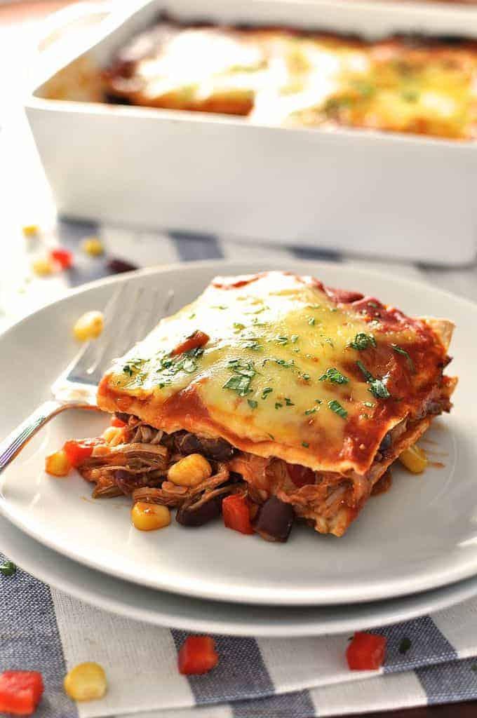 Mexican Lasagna With Tortillas  Mexican Lasagna Enchilada Stack