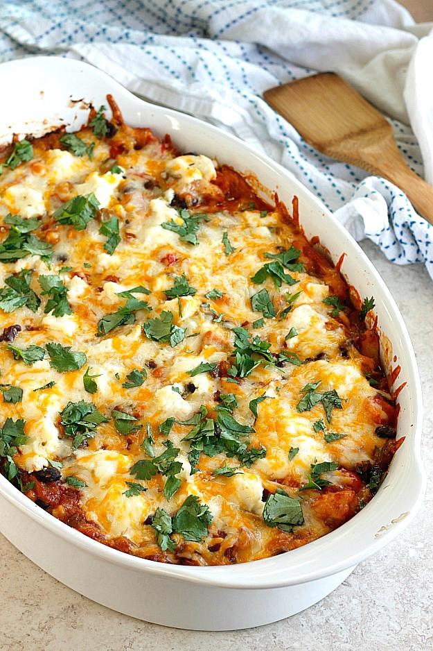 Mexican Lasagna With Tortillas  Mexican Lasagna Belle Vie