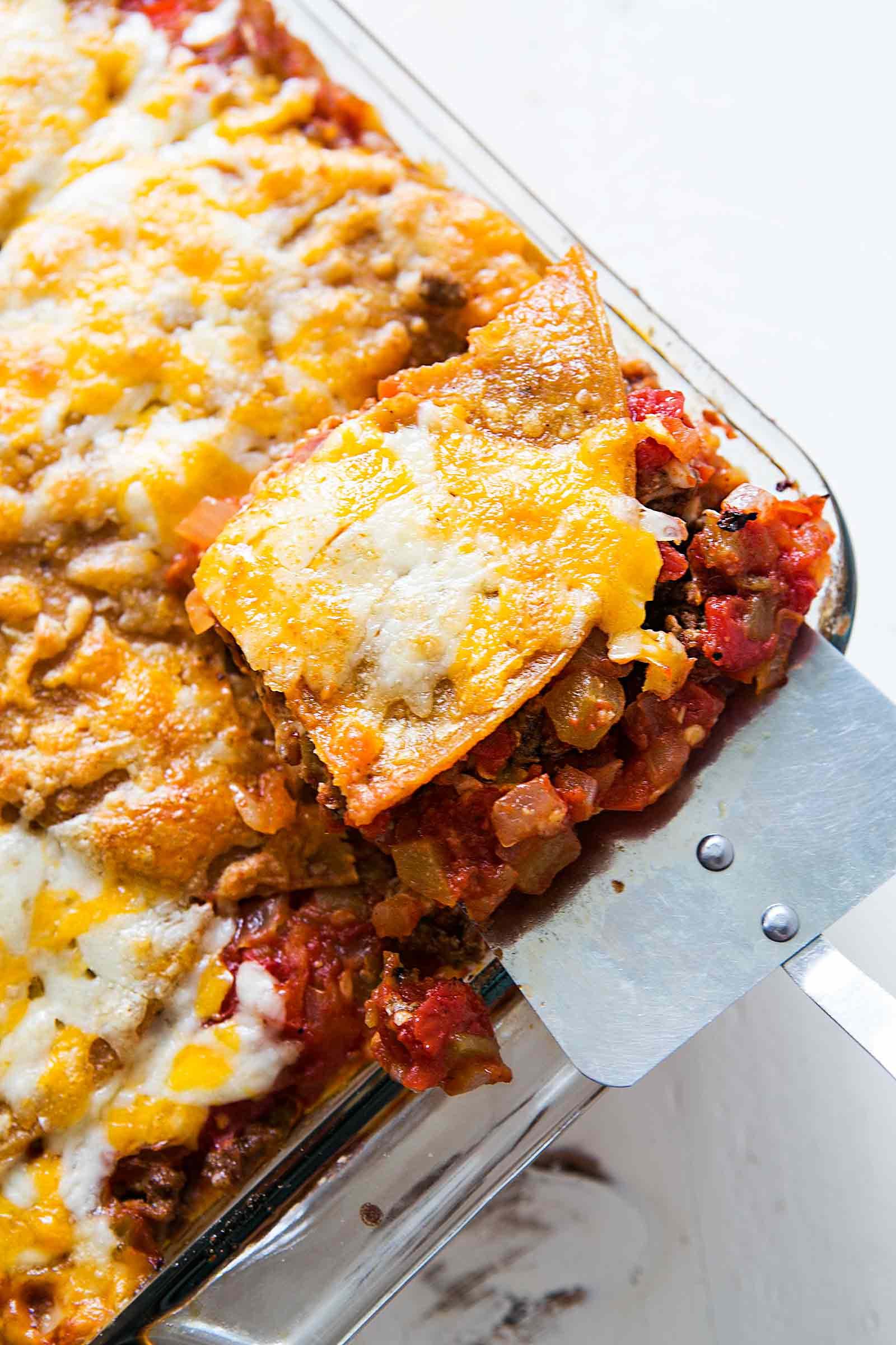 Mexican Lasagna With Tortillas  Mexican Lasagna Recipe
