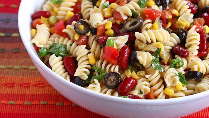 Mexican Pasta Salad  Spicy Mexican Pasta Salad