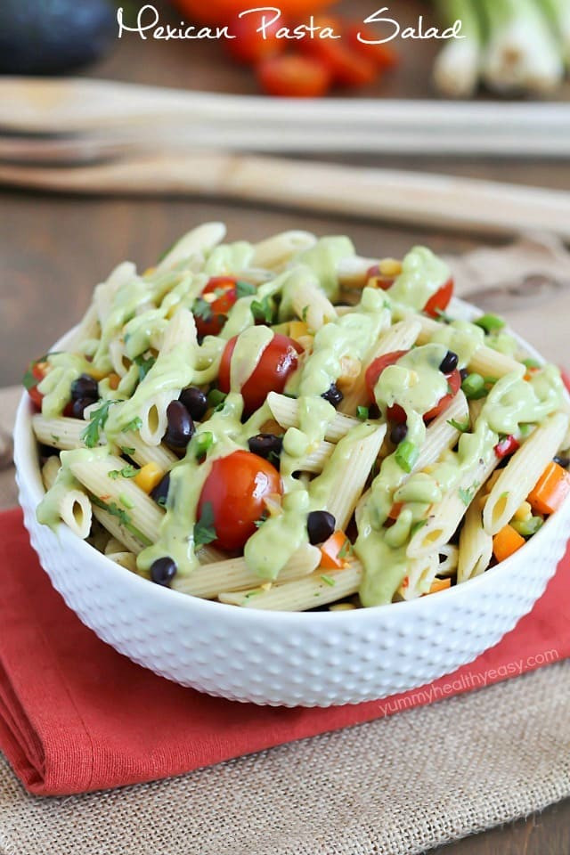 Mexican Pasta Salad  Mexican Pasta Salad Yummy Healthy Easy