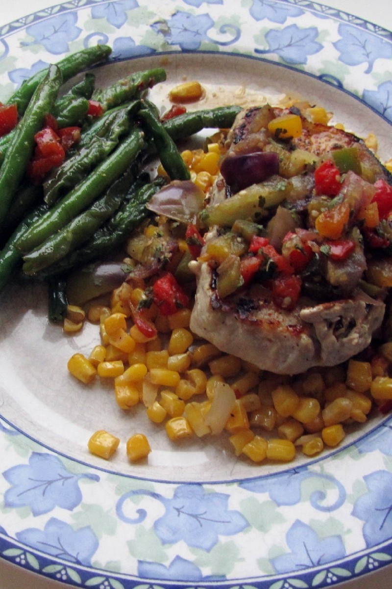 Mexican Pork Chops  Mexican Pork Chops with Veggies Weight Watchers