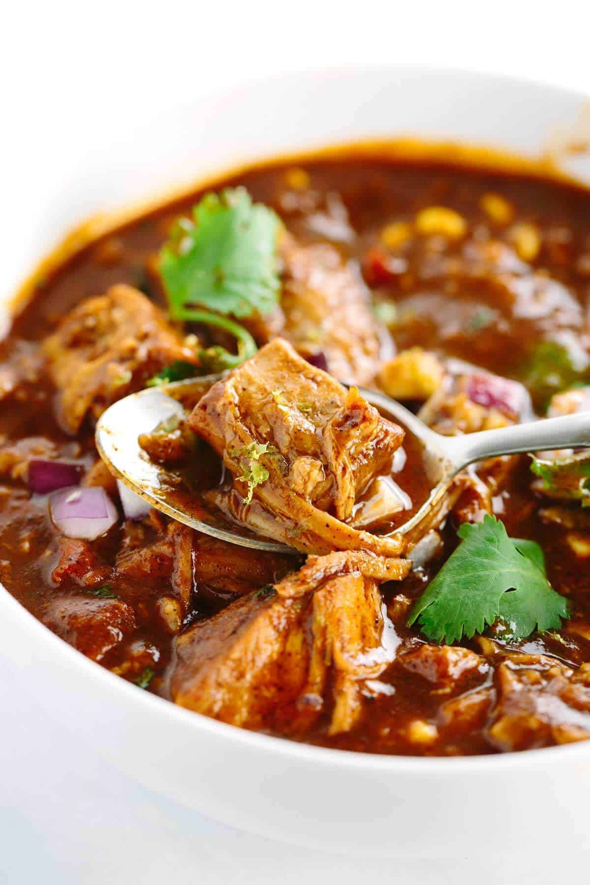 Mexican Pork Recipes  Slow Cooker New Mexican Red Pork Chili Recipe