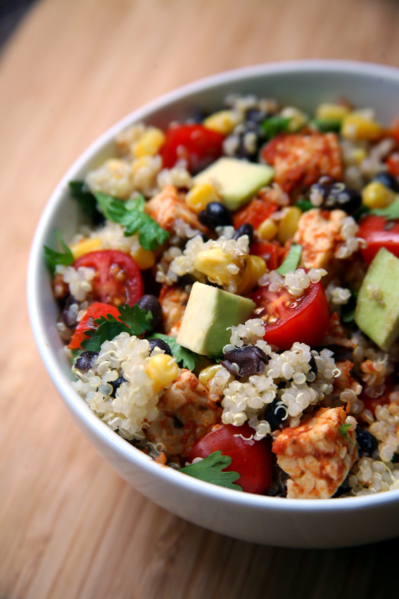 Mexican Quinoa Salad  Mexican Tempeh Quinoa Salad