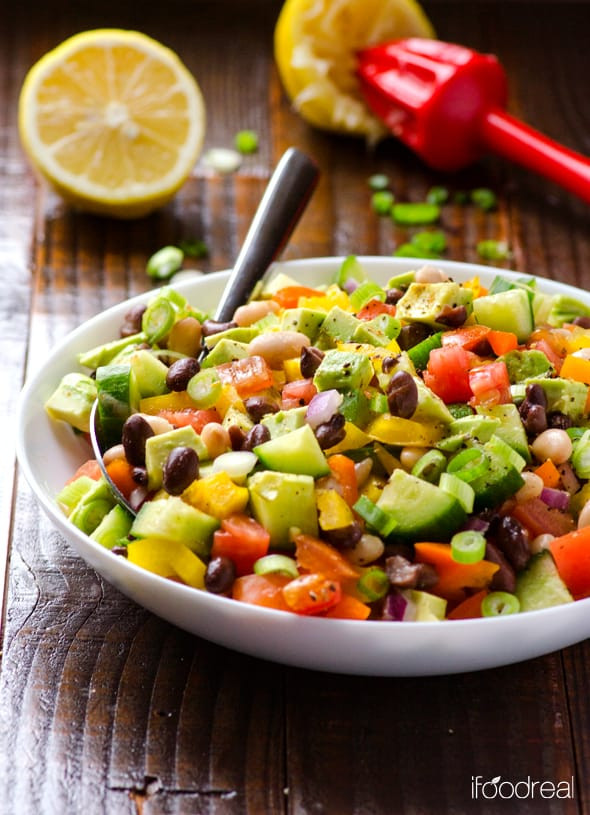 Mexican Salad Recipes  Mexican Bean Salad Recipe iFOODreal Healthy Family Recipes