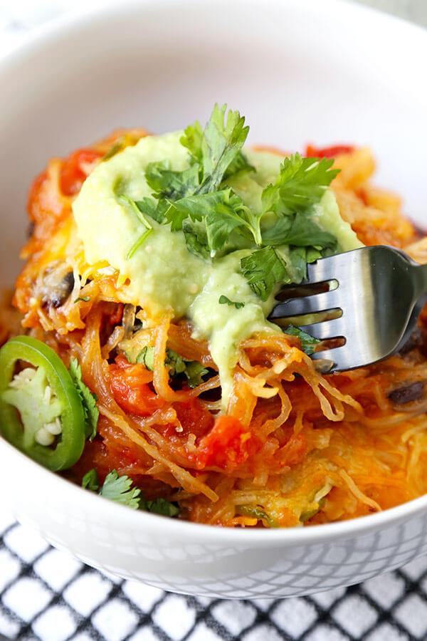 Mexican Squash Recipes  Mexican Spaghetti Squash Casserole With Avocado Salsa