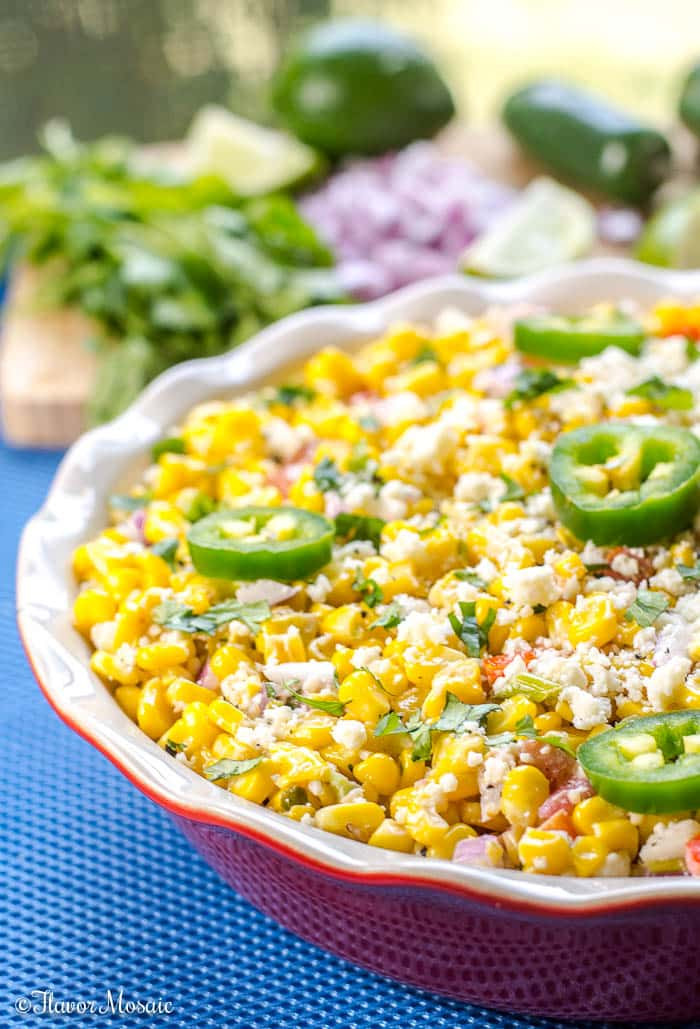 Mexican Street Corn Salad  Mexican Street Corn Salad Elote Deconstructed Flavor