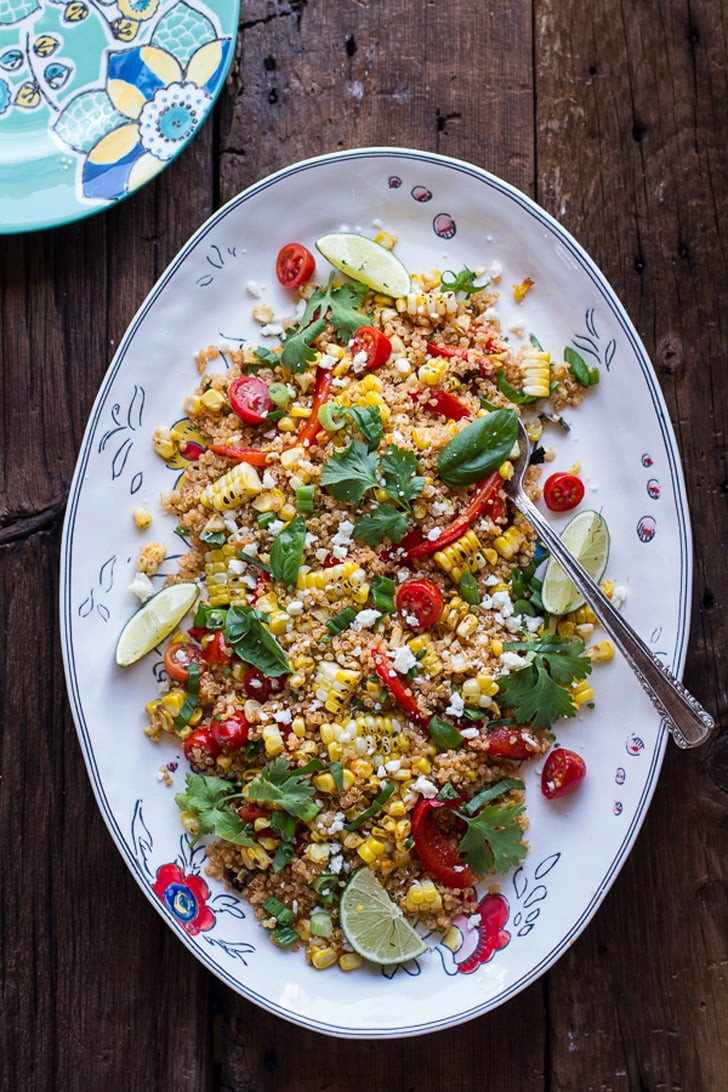 Mexican Street Corn Salad  Mexican Grilled Street Corn Quinoa Salad