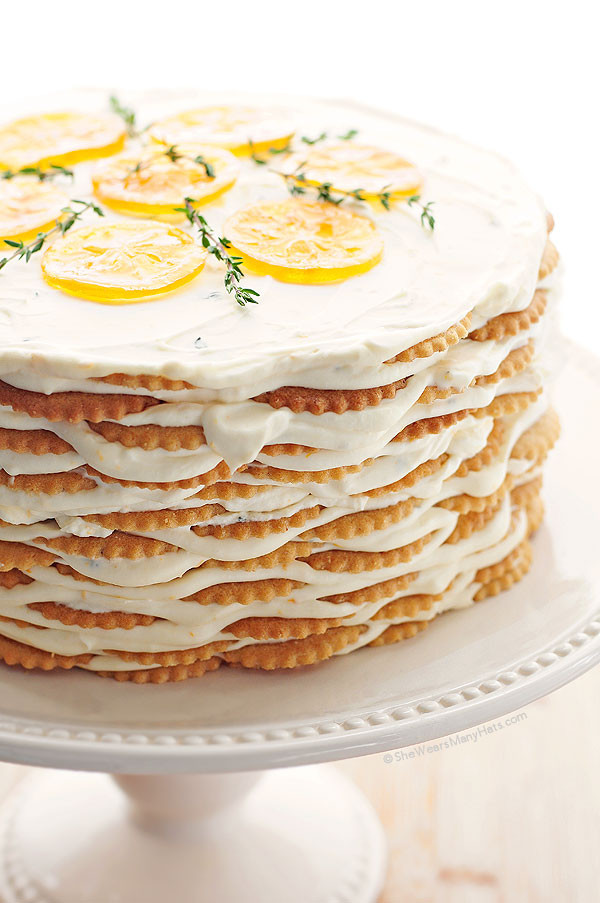 Meyer Lemon Cake  Meyer Lemon Thyme Icebox Cake Recipe