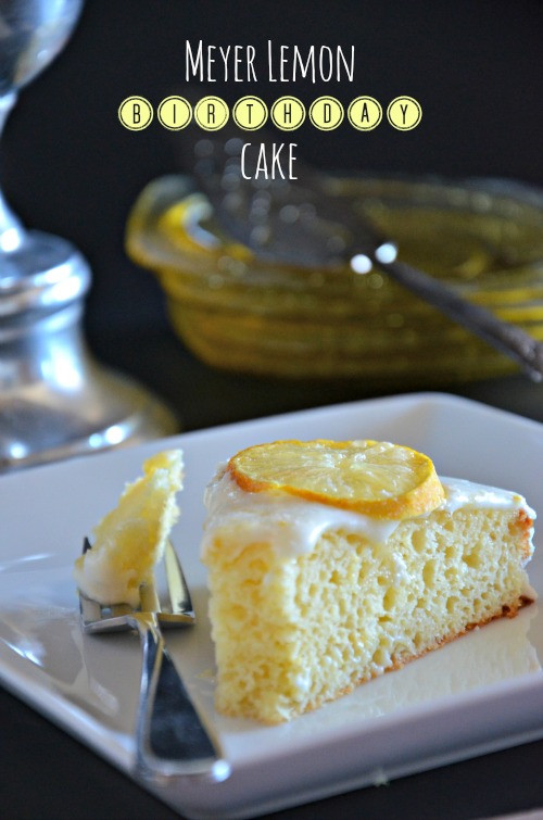 Meyer Lemon Cake  Meyer Lemon Cake with Greek Yogurt Mountain Mama Cooks