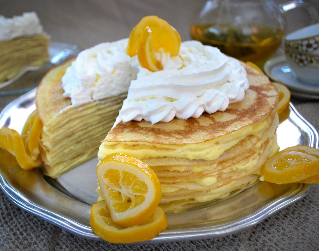 Meyer Lemon Cake  Meyer Lemon Crepe Cake