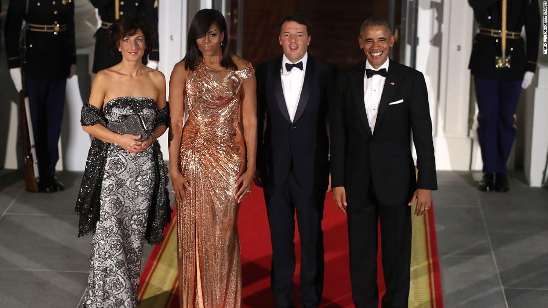 Michelle Obama State Dinner 2016 Dress  White House state dinner Batali s pasta 2016 politics to