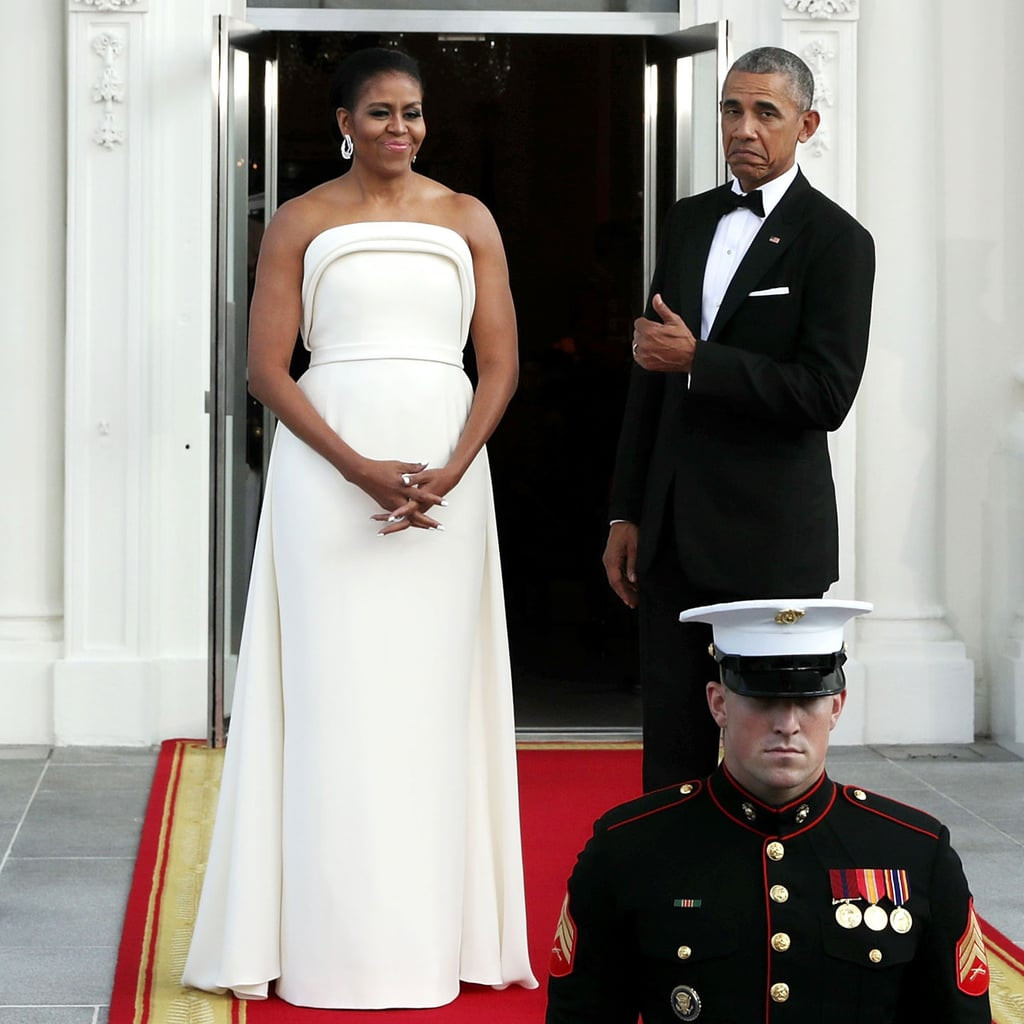 Michelle Obama State Dinner 2016 Dress  Michelle Obama s White Gown at State Dinner August 2016