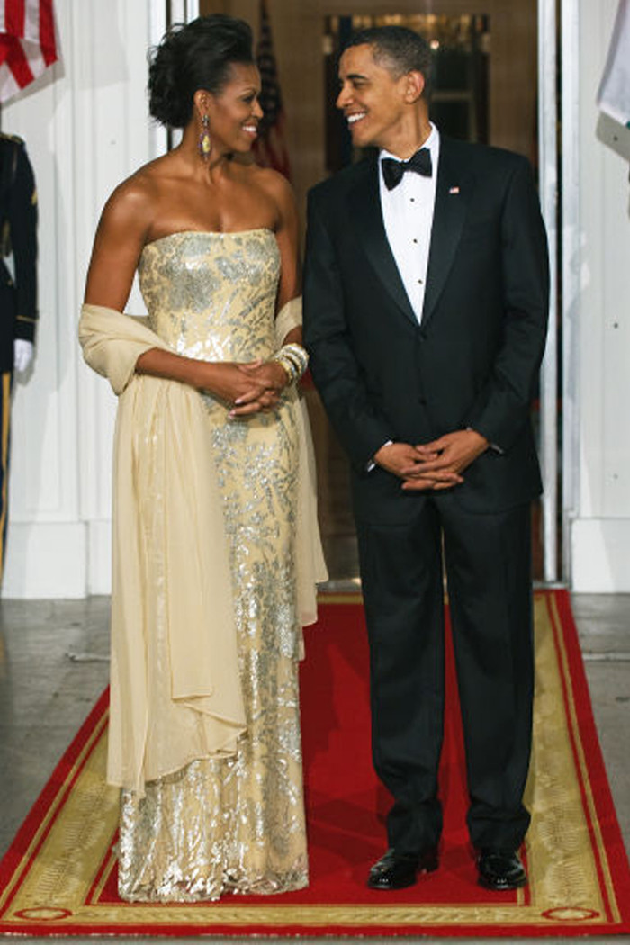 Michelle Obama State Dinner 2016 Dress  All 13 Michelle Obama s Gorgeous State Dinner Dresses
