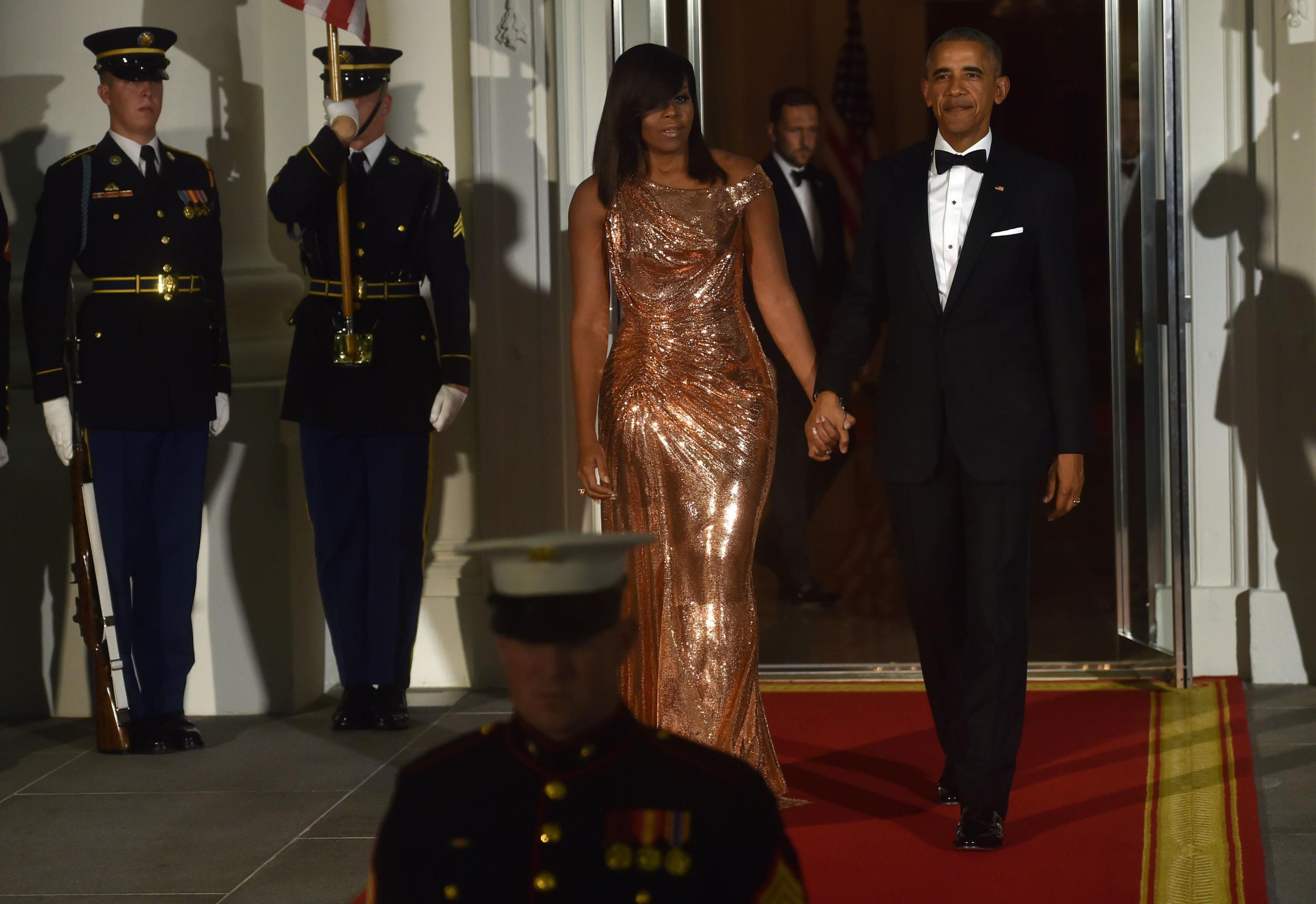 Michelle Obama State Dinner 2016 Dress  The story behind Michelle Obama s beautiful final state