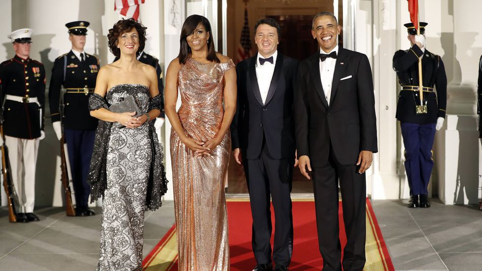 Michelle Obama State Dinner 2016 Dress  Michelle Obama slays final state dinner with this stunning