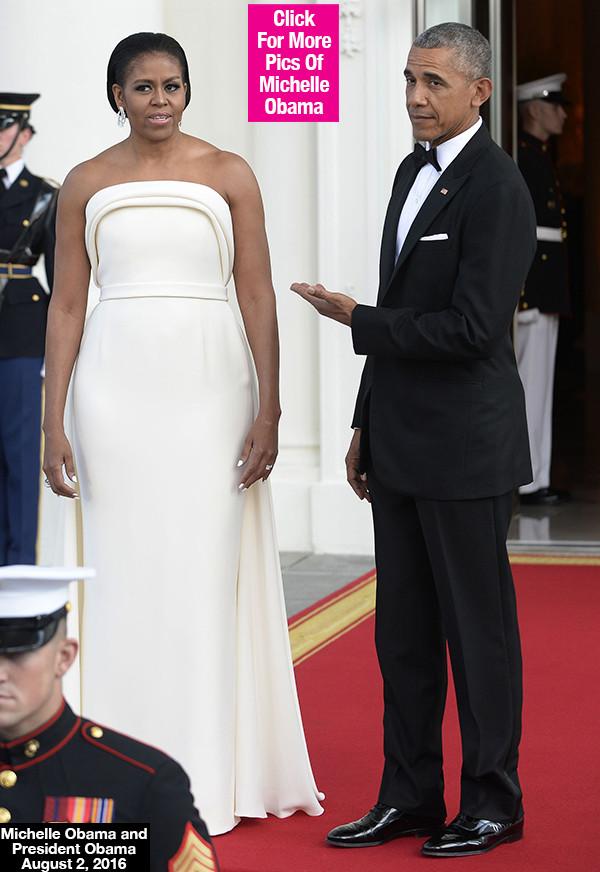 Michelle Obama State Dinner 2016 Dress  [PICS] Michelle Obama's State Dinner Dress See Her
